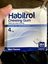 Habitrol 4mg Coated Fruit Flavor Nicotine Gum 384 Pieces per Bulk Box EXP. 09/20