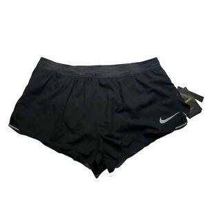 Nike AeroSwift  Lined Mens Size XL Running Shorts Gray and Black