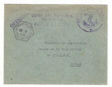 1949 Toulon France Service la Mer Anchor Official U.A.F.E. Liquidation
