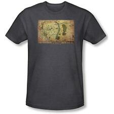 The Hobbit Movie Middle Earth Map Image T-Shirt, Lord of the Rings New Unworn