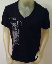 NWT REPAIR Design Under Construction BLACK V-Neck Shirt T-Shirt Young Mens XL