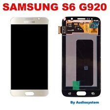 DISPLAY+TOUCH SCREEN AMOLED =ORIGINALE SAMSUNG GALAXY S6 SM-G920F ORO GOLD VETRO