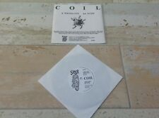 """COIL - WRONG EYE / SCOPE 7"""" 33rpm NUMBERED WHITE COVER  Current 93 Death In June"""