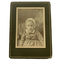 Antique Cabinet Card Photograph Sweet Child Victorian Little Baby Girl ID Ruth