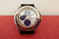 Lorus Quartz Watch Chronograph Alarm used, two tone case