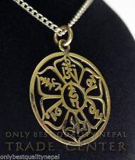 Collares y colgantes de joyería de metales preciosos sin piedras colgantes, buena suerte