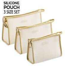 Le Sac Silky Soft Silicone Cosmetic Pouch Makeup Bag 3 Size Gift Set