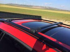 VW Touareg 2002-2010 Barras De Techo Riel De Aluminio Bloqueable Rack + barras cruzadas Negro