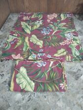 """Waverly Euro Shams 20x25"""" Tropical Floral Striped Red Green Yellow"""