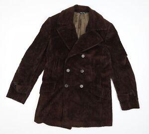 Duffer of St. George Mens Brown  Corduroy Pea Coat  Size L