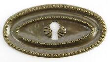Möbel Beschlag oval brüniert antik Jugenstil Gründerzeit Messing Klassizismus