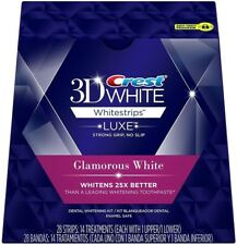 CREST 3D Luxe Glamorous White Whitestrips Teeth Whitening kit Strips Dental 2019