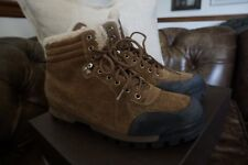 26f1a2d778b MENS AUTHENTIC GUCCI boots UK 9 US 10 Sherpa Fur Monogram Leather Shoes