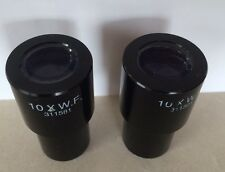 Lot of 2 Leica 10X W.F. Wide Field 311581 Microscope Eyepieces Pair