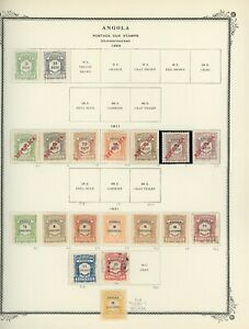 PORTUGUESE COLONIES - ANGOLA Scott Specialty Album Page Lot #18 - SEE SCAN - $$$