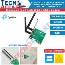Scheda di Rete PCI Express WiFi Wireless 300Mbps Tp-Link TL-WN881ND