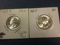Full Set of *36 P Washington Quarters 1946-1959 Book 2 D,S Silver Quarters*