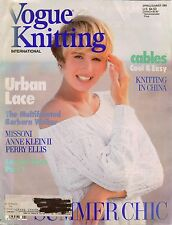 VOGUE KNITTING Spring Summer 1989 Urban Lace Designer Sweaters Patterns Missoni