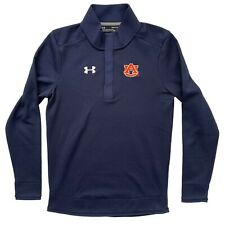 Auburn University Tigers Under Armour Mens High Neck Pullover Blue Size S Small