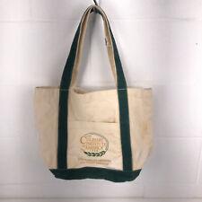 CIA Culinary Institute of America tote bag green tan 10x10x6 bbx14