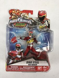"Power Rangers Dino Super Charge 5"" Dino Steel Red Ranger Bandai 43200 43237"