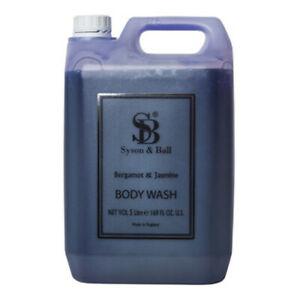 Luxury Body Wash Bergamot & Jasmine Fragrance By Syson & Ball - 5 Litre Bottle