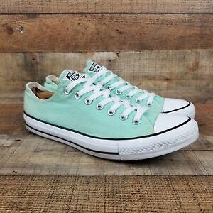 Converse All Star Men Sz 10 Wmn 12 Lo Ox Beach Glass Mint Green Sneaker 136565F