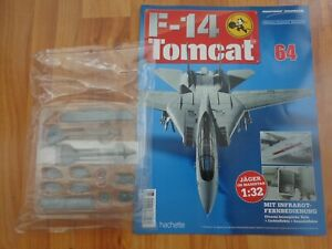 1/32 HACHETTE BUILD THE F-14 TOMCAT MODEL PLANE ISSUE 64 INC PART PICTURED