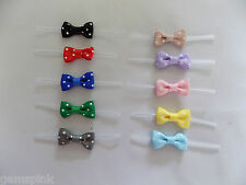 Grosgrain POLKA DOT Pre-tied Ribbon BOW Twist Ties Easter Baby Shower Favor gift