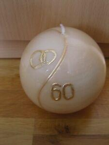 FLÜGEL - Wunderschöne Kugelkerze / Kerze zur Diamantenen Hochzeit 60 - *TOP*