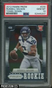 2012 Panini Prizm #230 Russell Wilson Towel Down Seahawks RC Rookie PSA 10