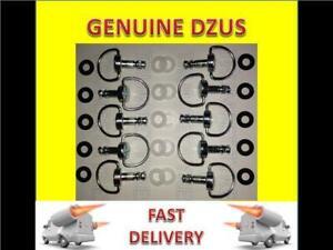 10 Dzus Fasteners / fairing fasteners 21mm D ring anti scratch,retaining washers