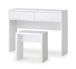 Manhattan Dressing Table High Gloss White with Stool Option