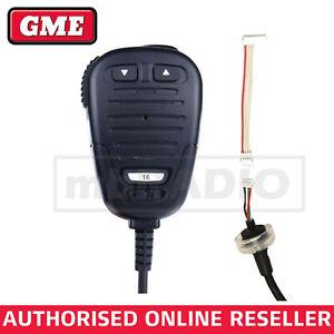 GME MC501B MICROPHONE (WITH ADAPTOR LEAD) SUITS GX600 BLACK