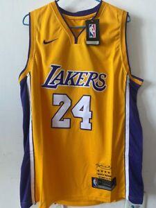 2020 Laker #24 Kobe Bryant Basketballtrikot Los Angeles Swingman Gelb Jersey Neu