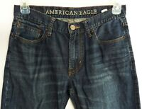 American Eagle Original Straight Blue Low-Rise Jeans Size 32 x 30.5 Distressed