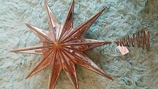 Pottery Barn Christmas Gold Mirrored Star Tree Topper New