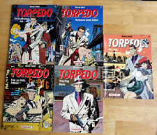 Bernet/Abuli: Torpedo Band 1 bis 5 komplett Carlsen farbige Ausgabe