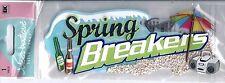 Spring Breakers School Break Sand Beach Beer Boom Box Retro Jolee's 3D Stickers