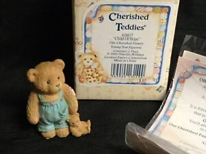 💙 CHERISHED TEDDIES FIGURINE 'CHILD OF HOPE' 624837 1993 BOXED!