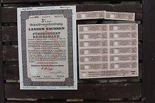 27994 Schuldverschreibung Land Sachsen 500 Reichsmark 11 1941 Dresden Wertpapier