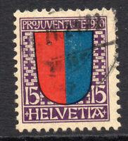 Switzerland 15 Cent Stamp c1920 Used (925)