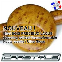 VINYLE ADHESIF EFFET BOIS PRECIEUX RONCE DE NOYER Format 10X20 cm- Pour Covering