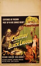 Creature From the Black Lagoon   Window card 1954 VF folded & untouched gr8 col