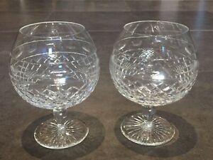 Cumbria Crystal Brandy Glass x 2 Downton Abbey
