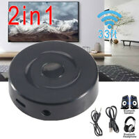 2in1 Music Bluetooth Transmitter Receiver 5.0 Wireless Audio Adapter USB Charger
