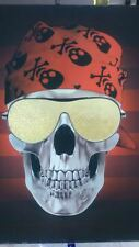 Tableau déco braun 3d render of metallic skull. front view shiva 3D encres