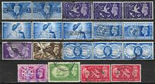 1946-51 GREAT BRITAIN 19 Used Stamps Sc.#264,265,267,271,272,274,276,278,286,290