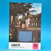 Fernsehtischgerät Luxomat 110 DDR 1974 61-Röhre Folleto Publicidad Dewag F56 J