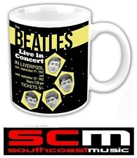 *OFFICIAL LICENSED* THE BEATLES MUG CUP LIVE IN COCERT 1962 IN BOX DRINKWARE